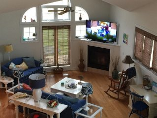 View of family room from the loft.