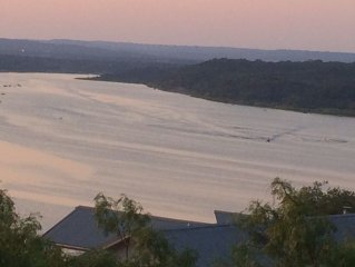 Hill Country Retreat with Panoramic Views of Hills and Water on Lake Travis