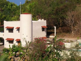 Beautiful ocean & mountain view,  private pool,  short walk to town and beach!!