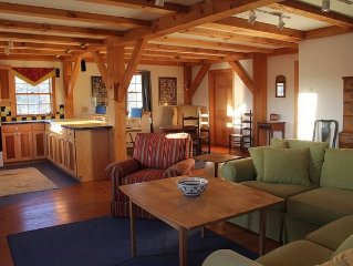 Barn sleeps up to twelve, available for longer-term rentals during off-season