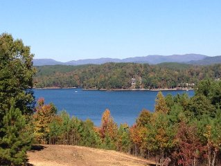 Beautiful Mountain and Lake Keowee Views in the Cliffs at Keowee Falls South