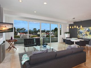 Spectacular Ocean and City Light View Home + Steps to Restaurants/ Shops/ Beach