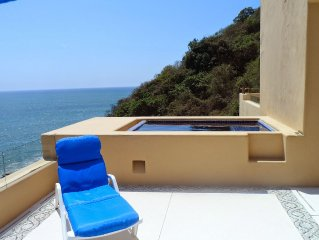 Elegant oceanfront apartment. Low rates for small groups.