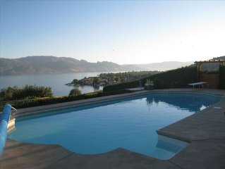 Beside Quails' Gate Vineyard by Okanagan Lake with Pool/Hottub