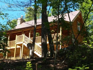 New,Stunning3story,huge,private,cabin-LAKE,BEACH,RIVER,waterfall, pets