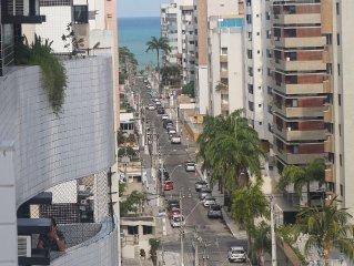 Apt Novo 2 Quartos com Suíte com Vista p Mar da Ponta Verde WIFI e TV a Cabo