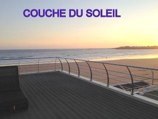 Sublime - Duplex CLIMATISE - sur la mer -  accès direct sur plage -4-5...10 PERS