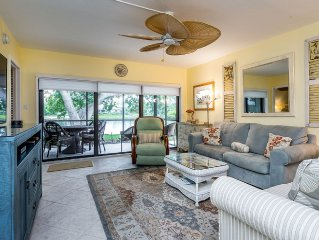 1st Floor corner 2 /Bed 2 Bath on Dolphin Course overlooking lake to 9th green