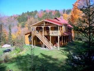 Mountain Home On 75 Acres With Brooks & Waterfalls In Cent