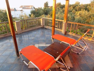 Plakoura, a quiet and privacy in village square of Plaka with seaview