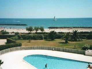 Cap d'Agde ROCHELONGUE 1 Line VIEW ON THE SEA T2 RENOVATED