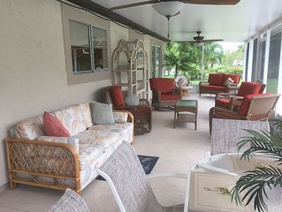Beautiful Tranquil Pool Home, 3 Br./2 Ba, Large Screened Fl. Room, Pet Friendly