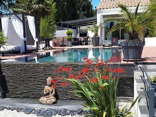 magnifique villa avec piscine chauffee