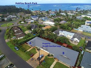 Brand New 4 Bedroom, With A/C, Steps To Hukilau Beach