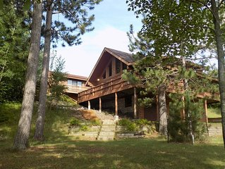 Beautiful Log Home on Peaceful Lake, with Guest Cabin