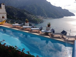 VILLA Porta Donica Ravello great views swimming pool gardens and garage