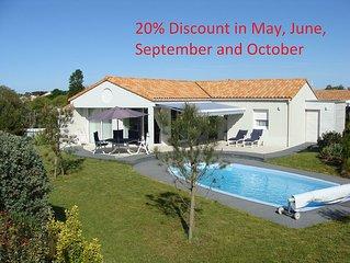 Luxe villa  aan de Atlantische Kust met prive zwembad