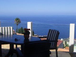 Villa mit Panoramablick aufs Meer, abseits vom Massentourismus, auch für Golfer
