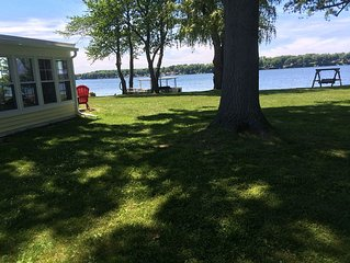 The  'Yellow Cottage' waterfront Little Sodus/Fair Haven Bay
