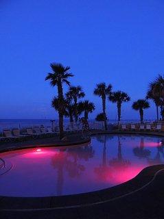 Adult pool at dawn.