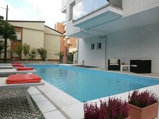 Modern Apartment on Rimini Adriatic Coast with Swimming Pool