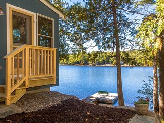 Contemporary 'Maine cottage' at water's edge--swim & relax on your private dock!