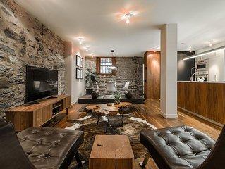 'Art De Vivre!' Gorgeous Modern Stone Apartment Downtown Montreal!
