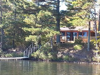 Lac Courte Oreilles*** Newly remodeled Waterfront Cottage Feet From The Lake