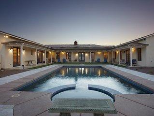 Luxury Hacienda On 5 Acres . Pool & Spa . Gourmet Kit . Golf .
