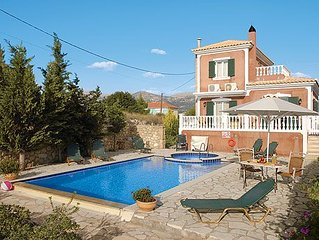 Fun inside & out at this villa with private pool, games room & in a sought afte