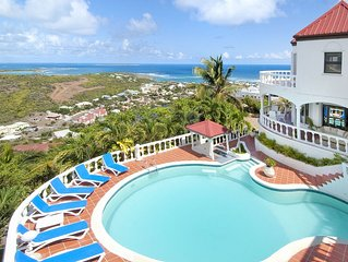 6 bedroom villa and spectacular view of Oyster Pond | Island Properties