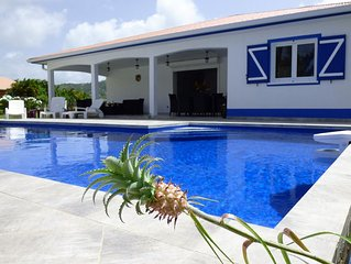 Beautiful villa of new F5 luxury, pool, near beach, sea view: a pearl!