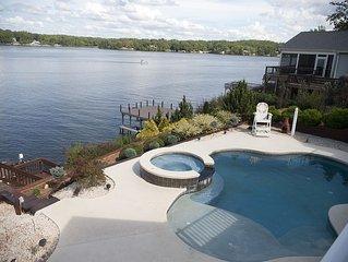 Lake Gaston Large Luxury Home On Main Lake, In-ground Pool, Boat Dock, Sleeps 24
