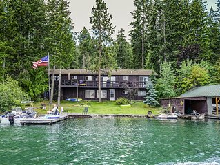 Steps from the water, sleeps 10 with an additional cabin available for 6!