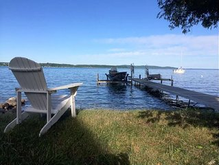 4BR 1.5Bath home Overlooking beautiful Crystal Lake w/dock and private access