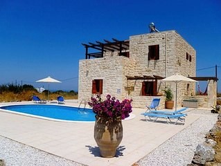 Stone Built Detached Air-Conditioned Villa With Private Pool & 1/2 Acre Of Land