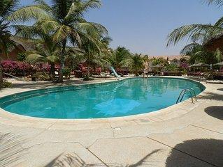 SALY, VILLA DE STANDING AU RECIF, 2 logts 70 m2 et 120 m2 , WIFI, PLAGE PRIVEE