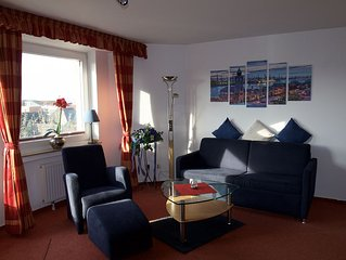 Very good location, west-facing balcony, overlooking the dunes, WLAN, 2-4 perso