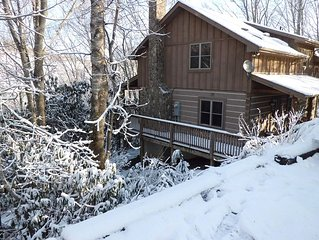 Romantic Private Mountain Cabin with Hot Tub, WiFi, and Wood Burning Fireplace