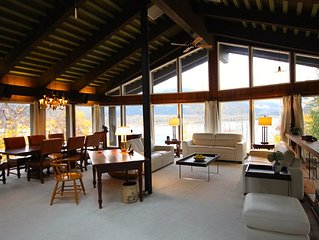 Stunning Views of Mountains and Columbia River from 4600 sq ft Downtown Chalet