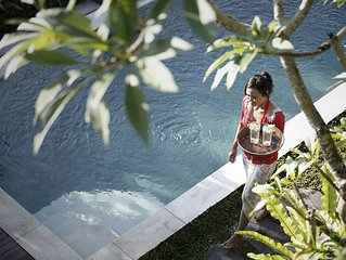 Quiet Luxury: Villa Santana -  3 BR pool villa, easy walk into Ubud