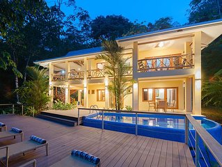 Partial Ocean View, Private Pool Villa Surrounded by Rain Forest and Waterfalls