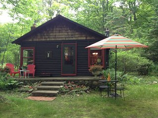 M119 Sweet Trillium Cabin in 'The Tunnel of Trees' Sunset Lake View in Good Hart