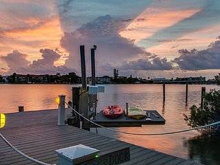 Wow!  Waterfront Mansion:  Walk To The Beach!  Amazing Sunsets!  One Of A Kind!