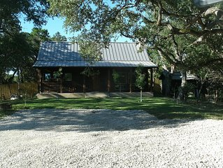 New Rustic Cedar Home on 2 acres. 7 miles from Wimberley, TX on the Blanco River