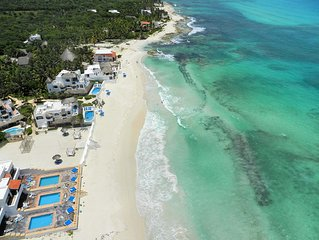 Beach House w/ private pool are a favorite of guest visiting the Mayan Riviera