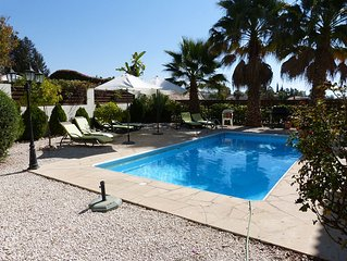 Detached three bedroom villa with private pool and garden