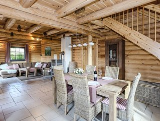 Exclusive log house in an idyllic location at the foot of the Brocken with saun