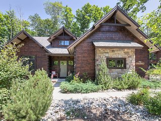 Slope Side Custom Log Home on Boyne Mountain - Truly Unique