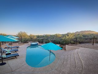 Rio Verde Foothills- Surrounded by desert landscape w/ pool, spa, & fire pit!